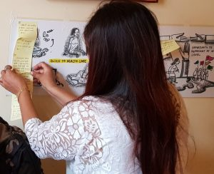 Sex worker participating in a workshop regarding sex workers' rights under CEDAW.